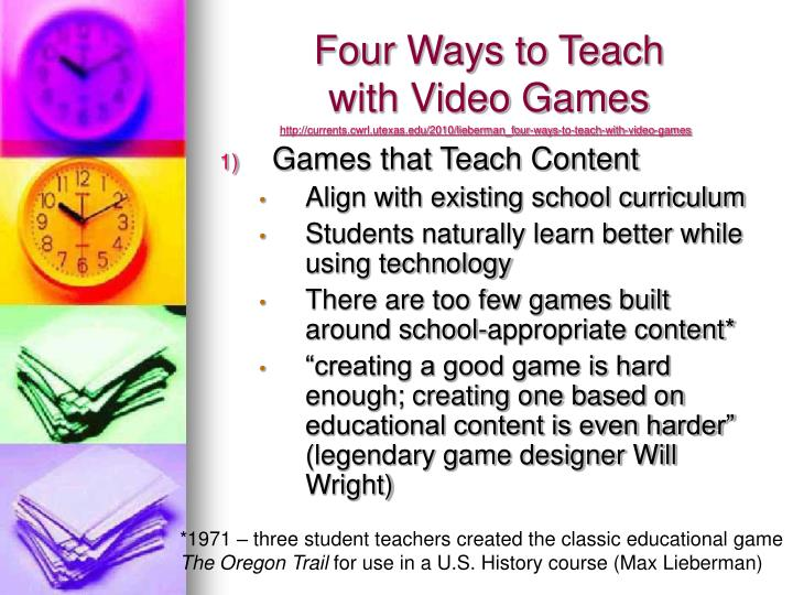 Four Ways to Teach