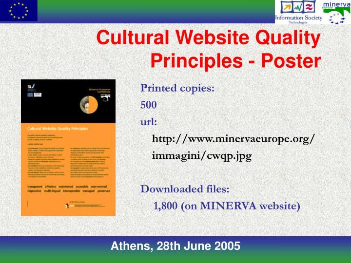 Cultural Website Quality Principles - Poster