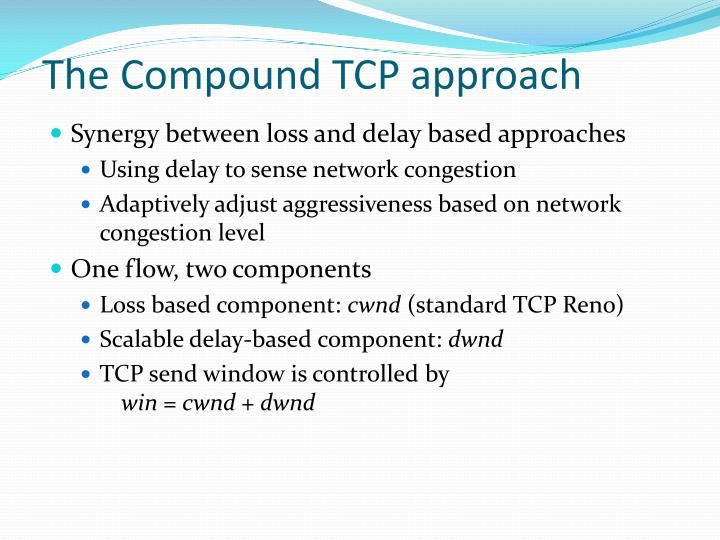 The compound tcp approach
