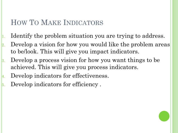How To Make Indicators
