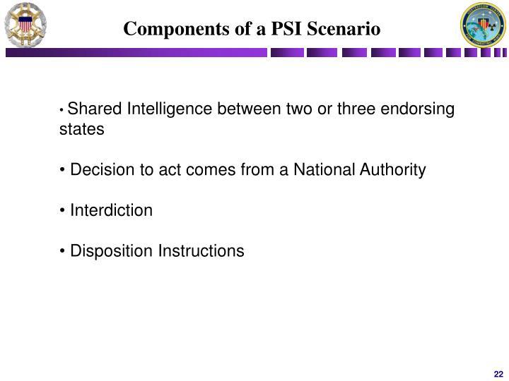 Components of a PSI Scenario