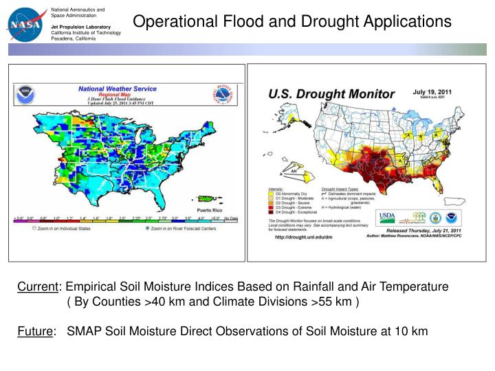 Operational Flood and Drought Applications