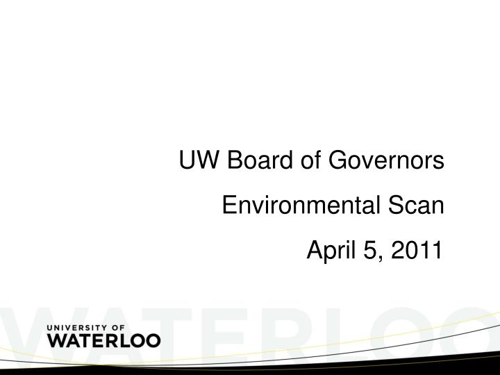 UW Board of Governors