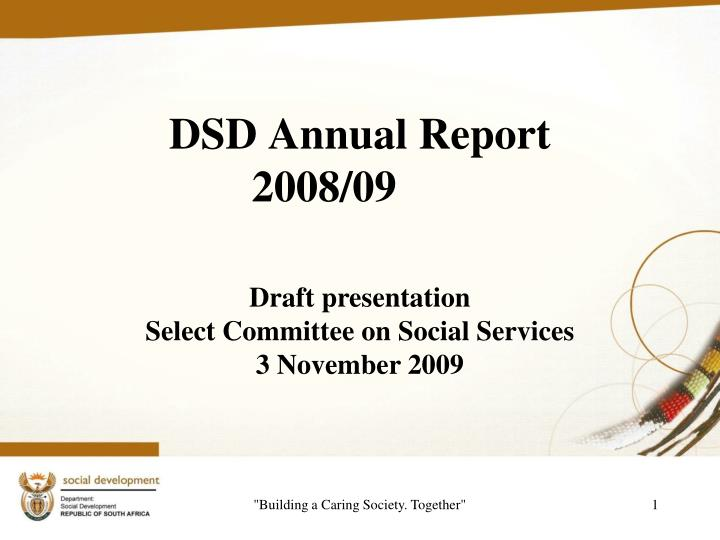 dsd annual report 2008 09 n.