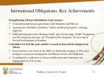 international obligations key achievements3