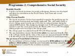 programme 2 comprehensive social security3