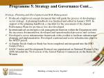 programme 5 strategy and governance cont6