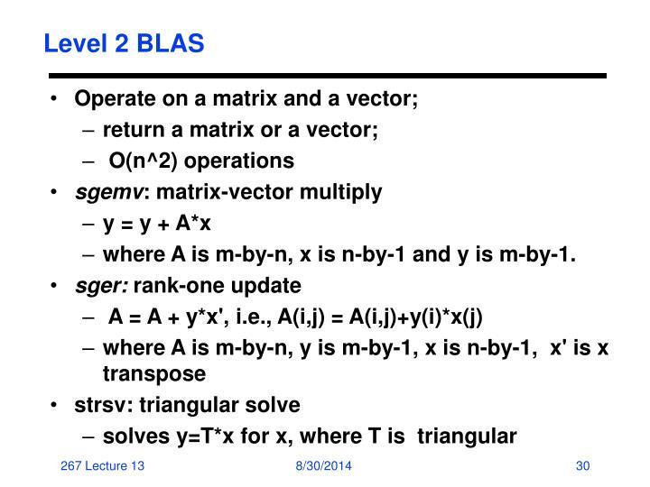 Level 2 BLAS