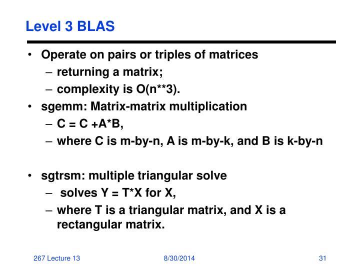 Level 3 BLAS