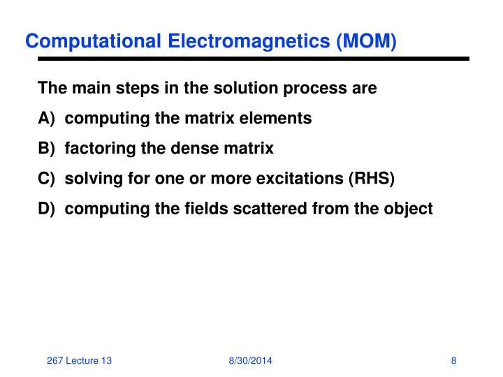 Computational Electromagnetics (MOM)