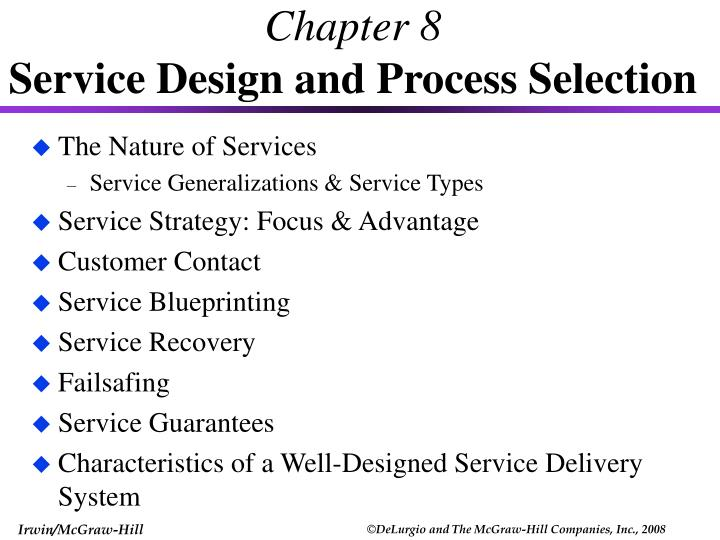 chapter 8 service design and process selection n.