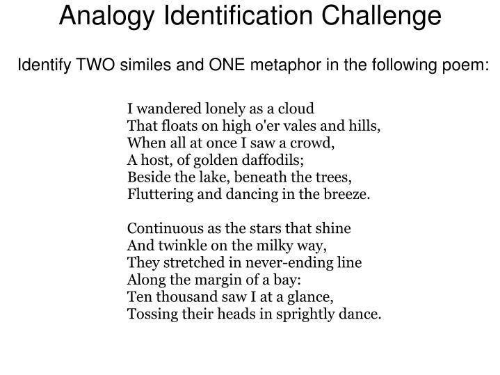 Analogy Identification Challenge