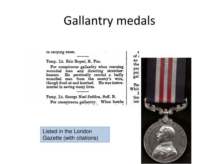 Gallantry medals