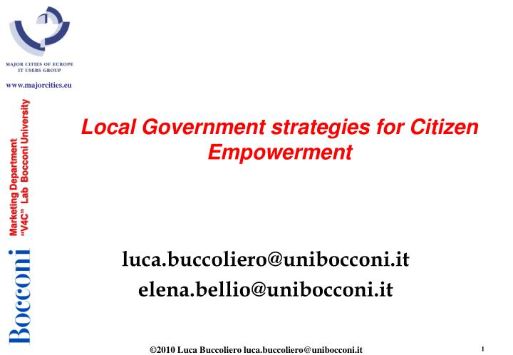 local government strategies for citizen empowerment n.