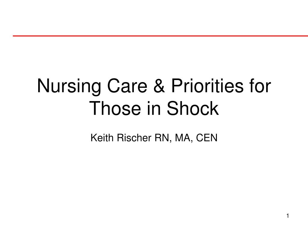 ppt - nursing care  u0026 priorities for those in shock powerpoint presentation