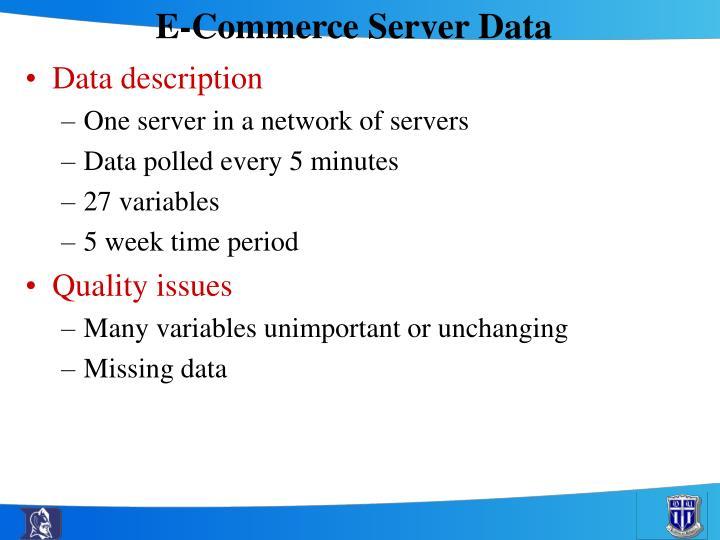 E-Commerce Server Data