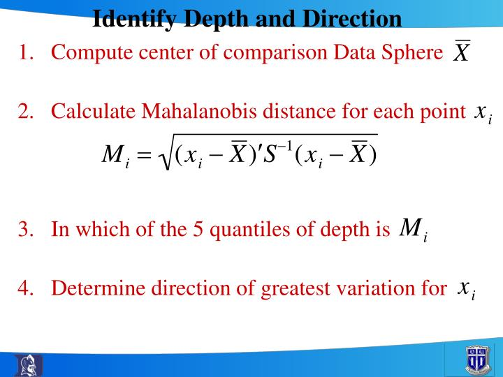 Identify Depth and Direction
