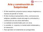 arte y construcci n de subjetividad