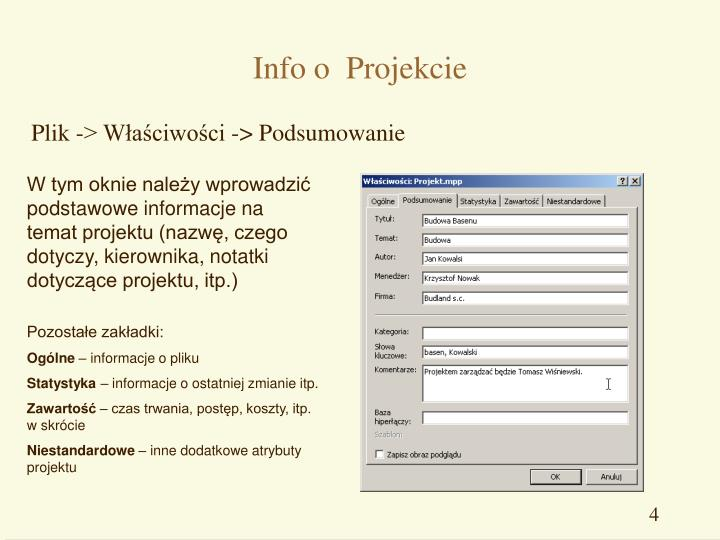 Info o  Projekcie