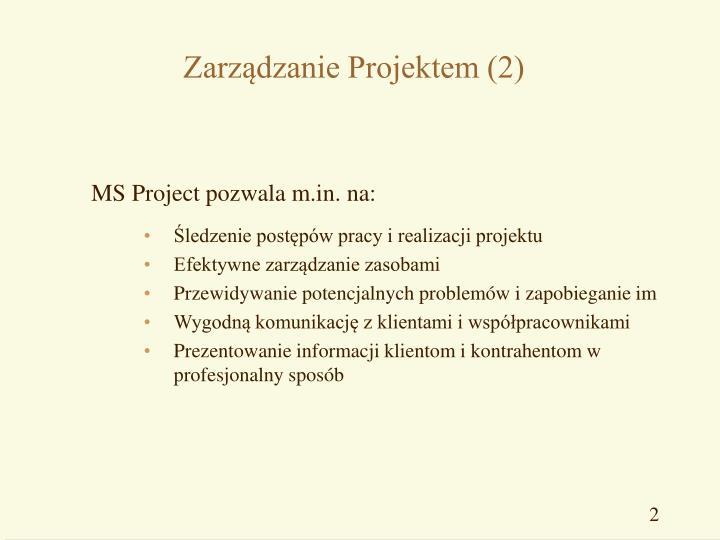Zarz dzanie projektem 2