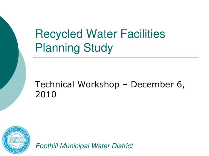 recycled water facilities planning study n.