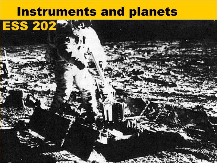 instruments and planets n.