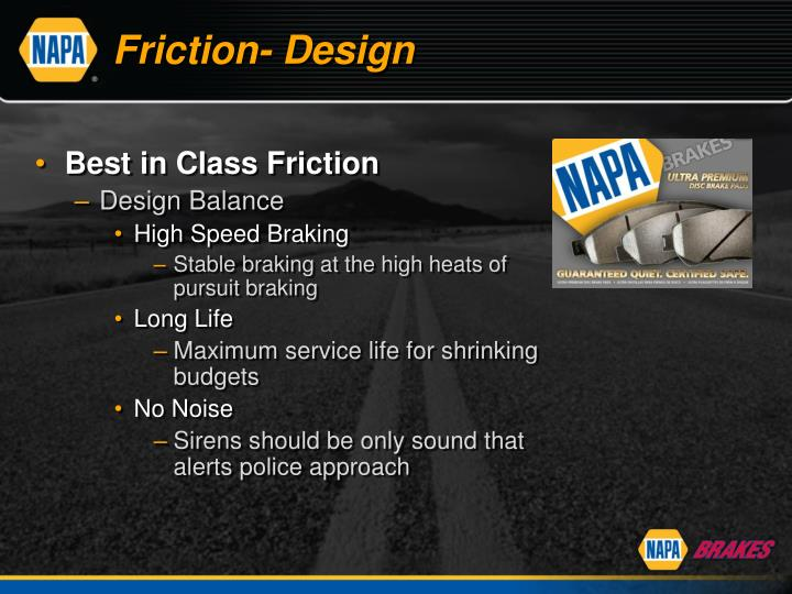 Friction- Design