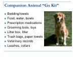 companion animal go kit