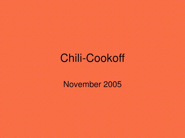 chili cookoff n.