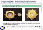 single crystal cvd diamond detectors