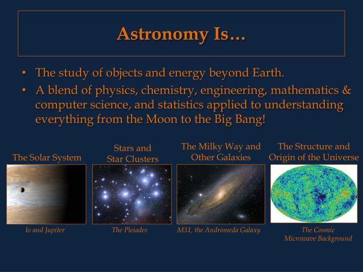 Astronomy is