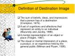 definition of destination image