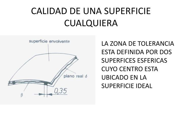 CALIDAD DE UNA SUPERFICIE CUALQUIERA