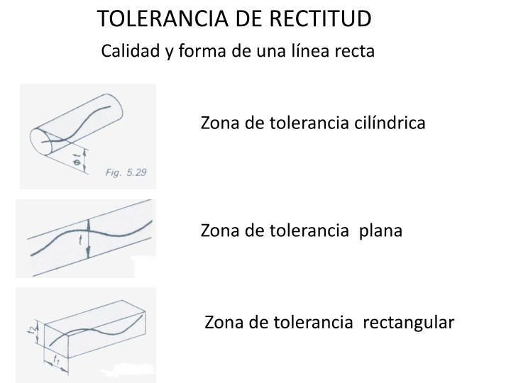 TOLERANCIA DE RECTITUD
