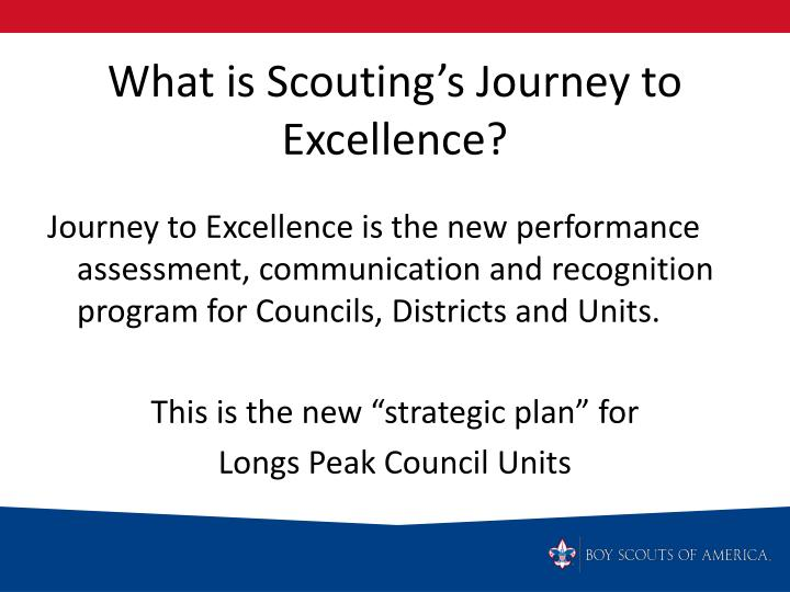 What is scouting s journey to excellence