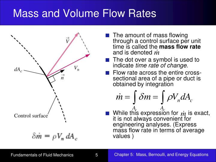Ppt Chapter 5 Mass Bernoulli And Energy Equations Powerpoint