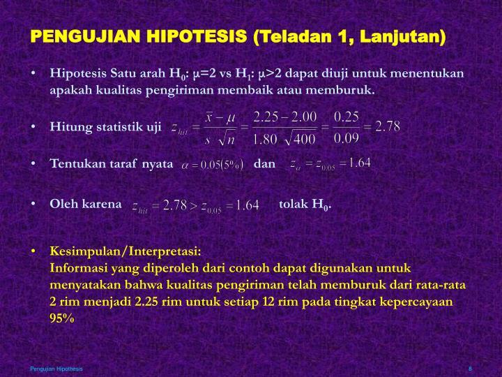 Ppt Pengujian Hipotesis Powerpoint Presentation Id 3726033