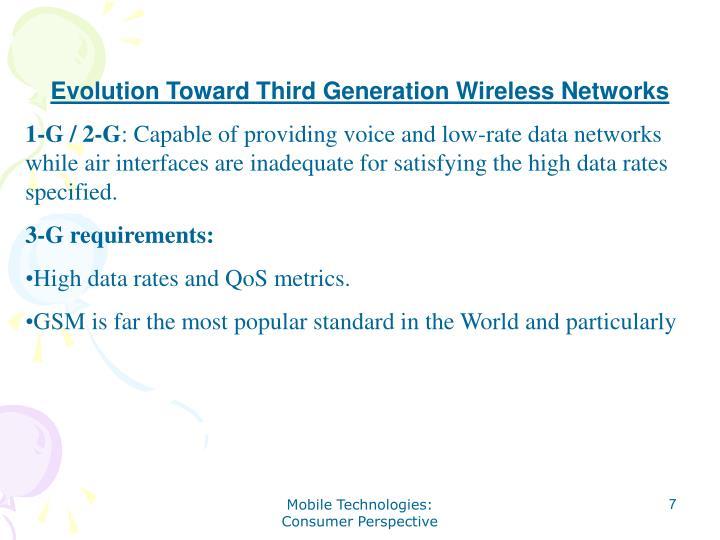 Evolution Toward Third Generation Wireless Networks