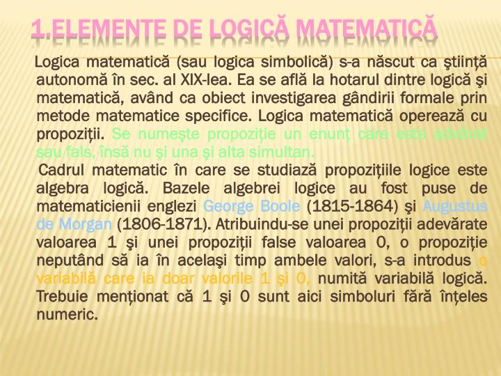 1 elemente de logic matematic