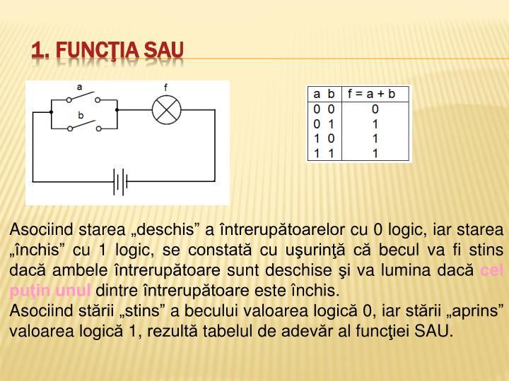 1. Funcţia SAU