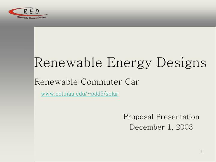 renewable energy designs n.
