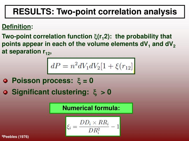 RESULTS: Two-point correlation analysis
