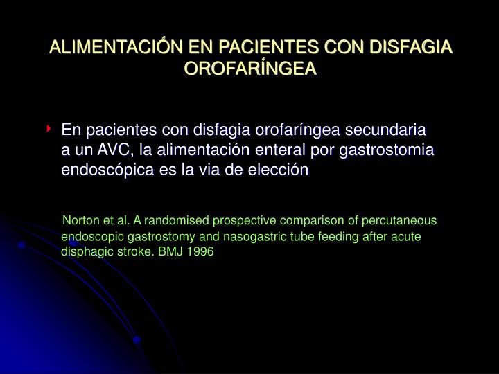 ALIMENTACIÓN EN PACIENTES CON DISFAGIA OROFARÍNGEA