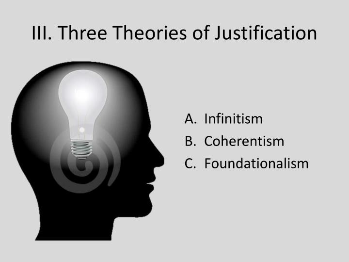 III. Three Theories of Justification