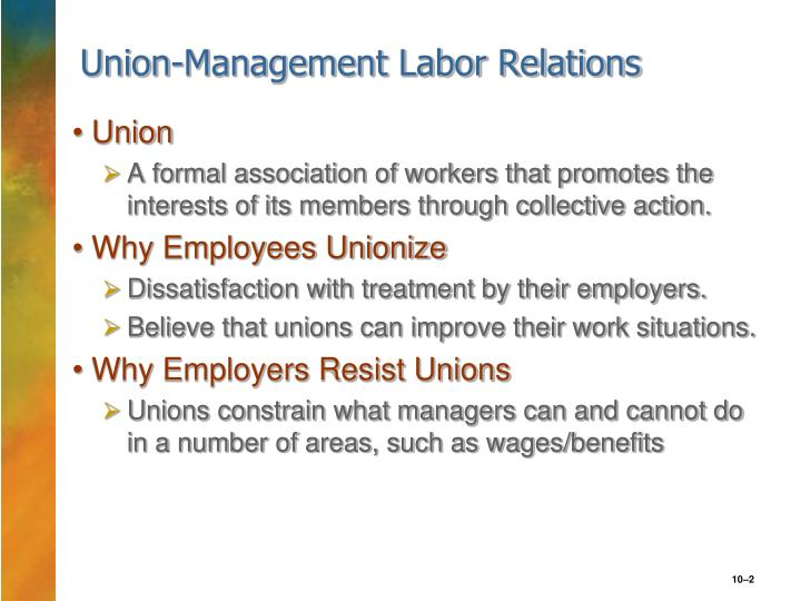union management relations