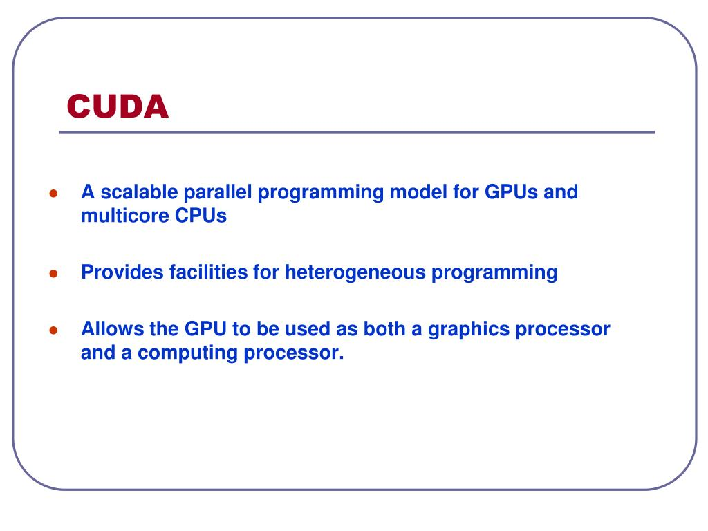PPT - Lecture 8: CUDA PowerPoint Presentation - ID:3726751