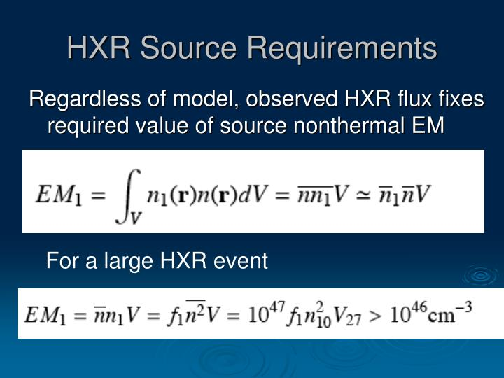 HXR Source Requirements