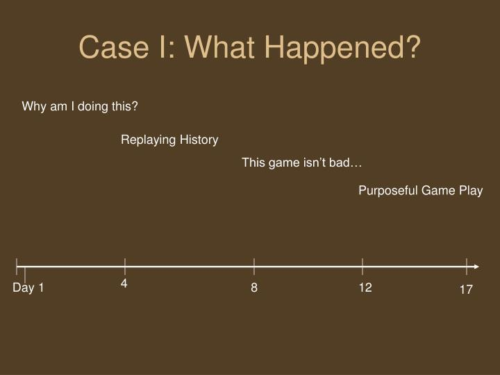 Case i what happened