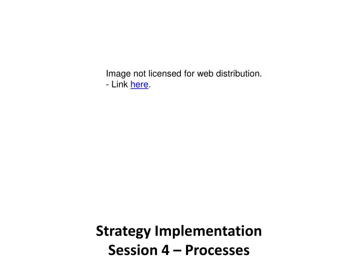 PPT - Strategy Implementation Session 4 – Processes