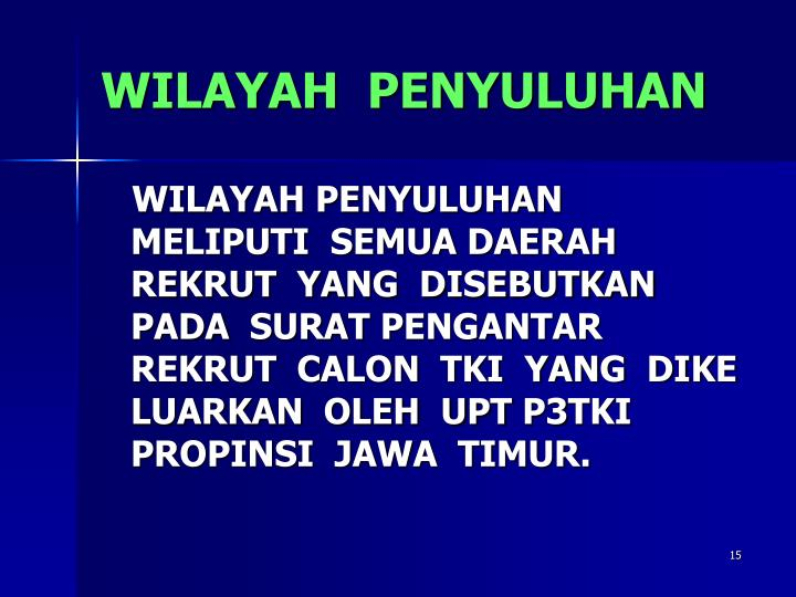 WILAYAH  PENYULUHAN